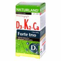 Naturland D3+ K2+ Kálcium forte trió tabletta 30 db