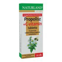 Naturland Propolisz+ C-vitamin szopogatós tabletta 20 db
