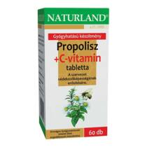 Naturland Propolisz+ C-vitamin szopogatós tabletta 60 db