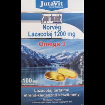 Jutavit Norvég lazacolaj 1200 mg omega 3 lágyzselatin kapszula 100 db