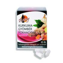 Boszy Kurkuma-gyömbér-fokhagyma por kapszula 60db