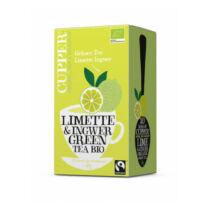 Cupper Bio lime-gyömbér zöld tea filteres 20db