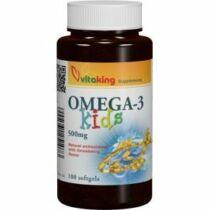 Vitaking Omega-3 kids halolaj gélkapszula 100 db
