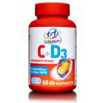 1×1 Vitamin 500 mg C-vitamin+D3 1000NE narancsízű ízű rágótabletta csipkebogyó kivonattal 60db