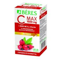 Béres C-max 1500 mg retard filmtabletta csipkebogyó kivonattal + 3000 ne D3-vitamin 90 db