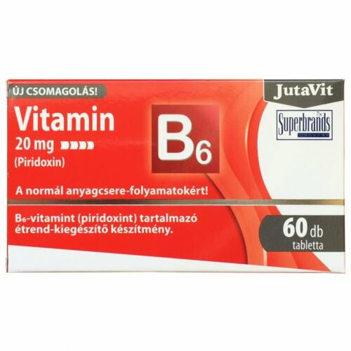 Jutavit B6 vitamin 20 mg 60 db