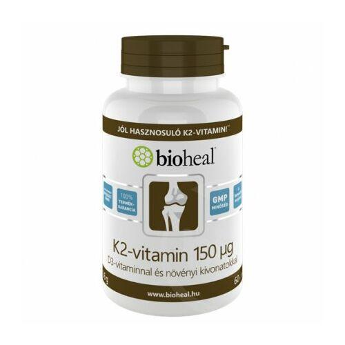 Bioheal K2-vitamin 150 ug B3 vitaminnal tabletta 70db