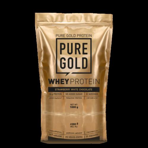 Pure Gold Whey Protein 1000 g (Eper Milkshake)