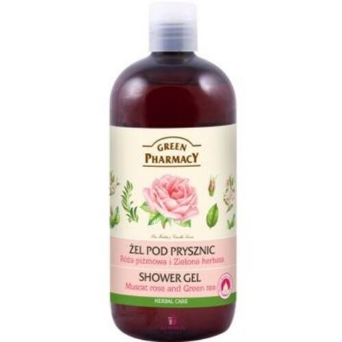 Green Pharmacy Tusfürdő rózsa-zöld tea 500 ml