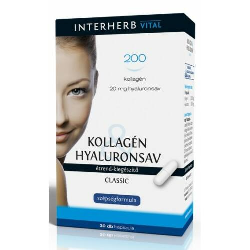 Interherb Kollagén hyaluronsav 30 db