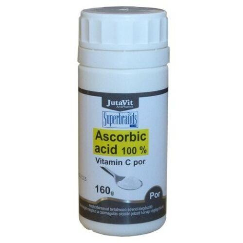 Jutavit Ascorbic acid 100 % c-vitamin por 160 g