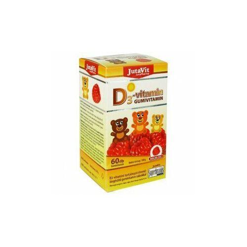 Jutavit D3 gumivitamin gyerekeknek málna ízű 60 db