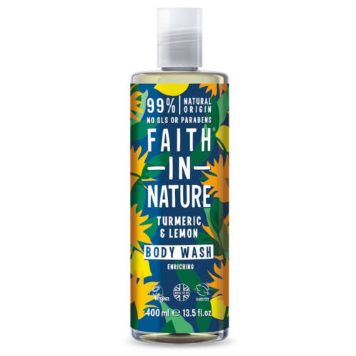 Faith In Nature Tusfürdő kurkuma és citrom 400 ml