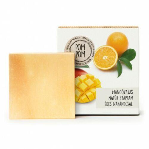 Pom Pom Mangóvajas natúr szappan édesnaranccsal négyzet 100 g