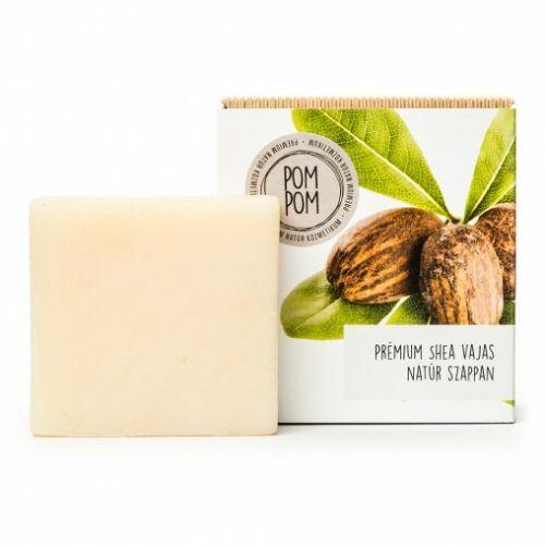 Pom Pom Prémium shea vajas natúr szappan négyzet 100 g