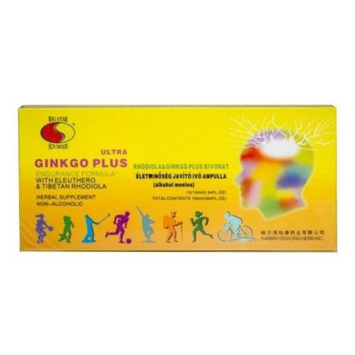 Big Star Ginkgo Plus-Rhodiola ivóampulla 10 x 10 ml