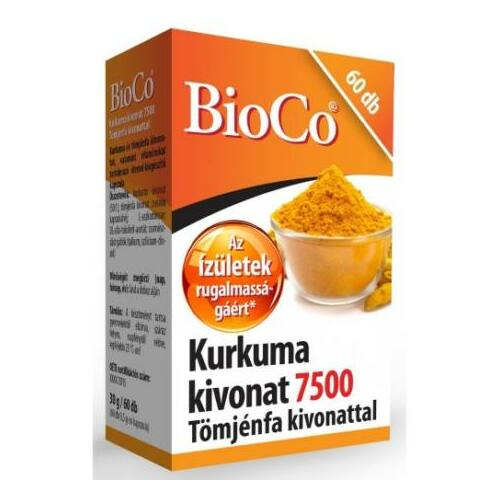BioCo Kurkuma kivonat 7500  kapszula 60 db