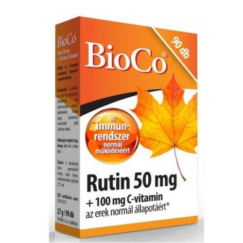BioCo Rutin + C-vitamin tabletta 90 db