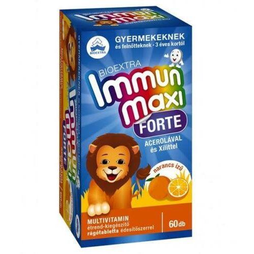 Bioextra Immun maxi forte gyerek narancs 60 db