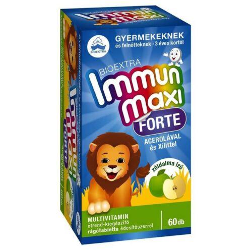 Bioextra Immun maxi forte gyerek zöldalma 60 db