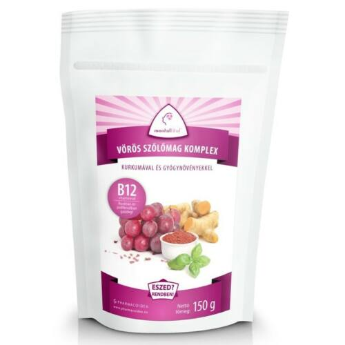 Mentalfitol Vörös szőlőmag őrlemény + B12 150 g