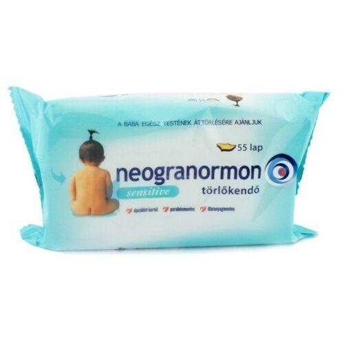 Neogranormon Törlőkendő sensitive 55 db